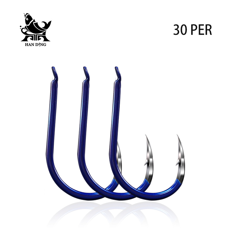 Handing 0.3#-8# Fishing barbed Colorful fish hook High Quality Carp Fishing Accessories Sea Stream Steel Alloy Fishing hooks