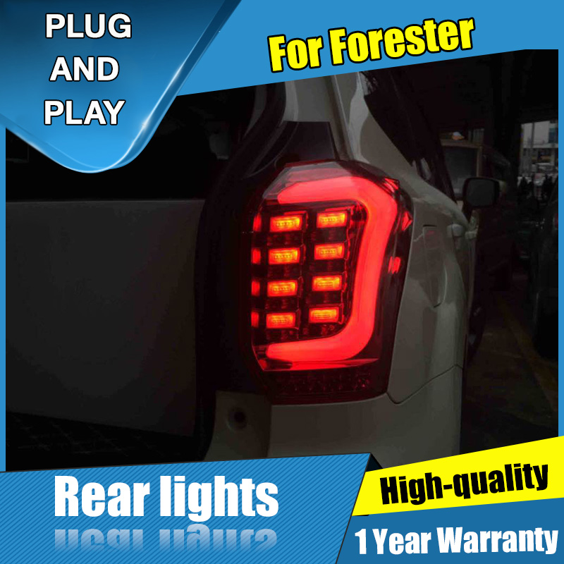Car Styling LED Tail Lamp for Forester Taillight assembly 2014 2018 for Forester Rear Light DRL+Turn Signal light with 4pcs.
