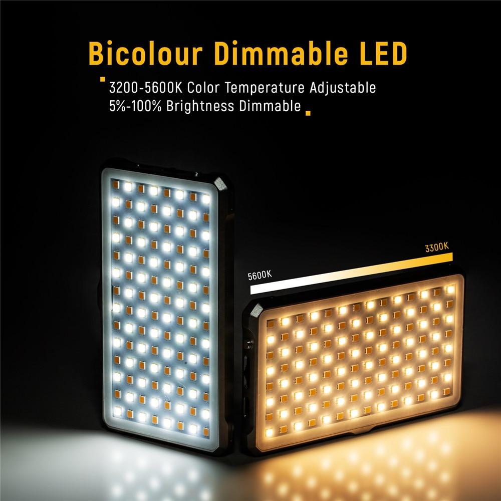 VILTROX FA D10 Mini Bi kolor wideo światła LED przenośne światła wypełniającego oświetlenie fotograficzne na telefon fotografowania aparat Studio YouTube na żywo w Oświetlenie fotograficzne od Elektronika użytkowa na  Grupa 1