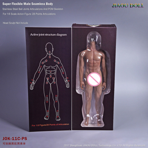 Image 5 - Super Flexible Male Seamless Body Figure 1/6 Scale With Stainless Steel Ball Joints Strong Musle Figure Model Collection Toy