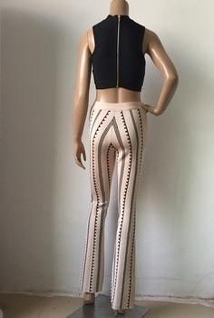 2017 Women Bodycon leggings bandage bottoms high waist harem long wide leg pants palazzo summer fashion club wonder sweatpants 6