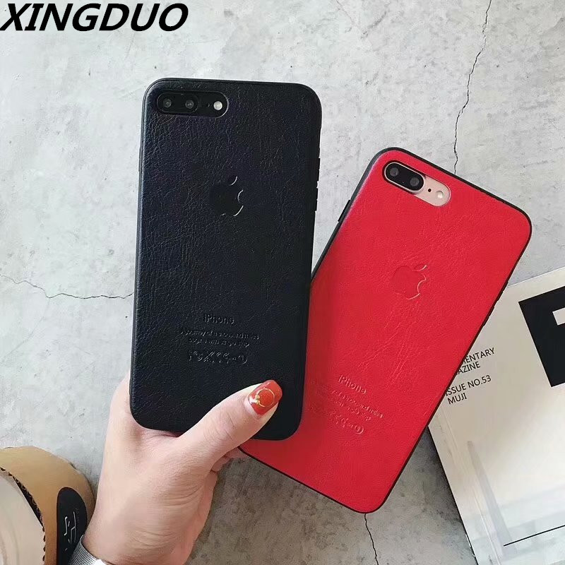 XINGDUO PU leather case for iphone XS MAX Cover Ultra Thin Phone Case X XR 6 7 8 Plus 6S Mobile Shell