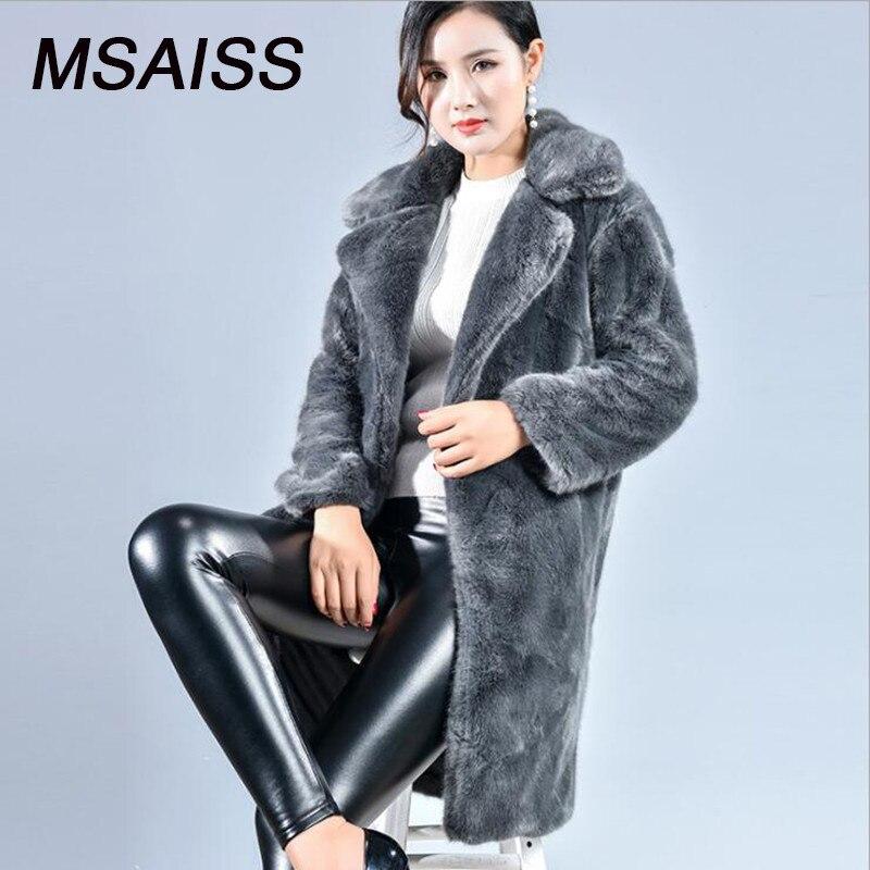 xl Winter Lange Msaiss Xs Faux Frauen Pl Mantel Fox Pelz 3A5jq4cRL