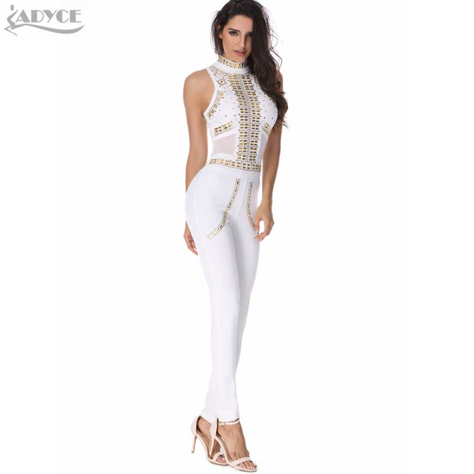 97dde42fe8a ... 2018 new sexy women rompers bodysuit white luxury sequined mesh  patchwork sexy bodycon hot lady runway ...