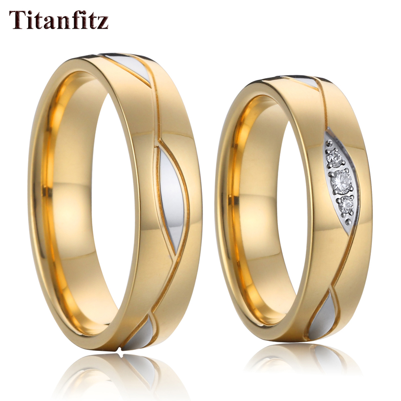 Jewellery Designer alliance Wedding Rings for women stainless Steel jewelry couple ring set anillos mujer