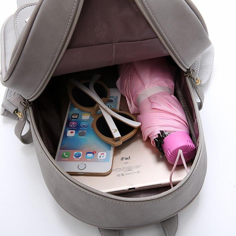 de couro bolsa de ombro Women Backpack : Fashion Lady Bag