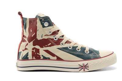 ФОТО Classic Canvas Shoes for Women Retro USA UK Flag Canvas Walking Shoes High-top Lace-up Female Ladies Vulcanize Shoes S4026