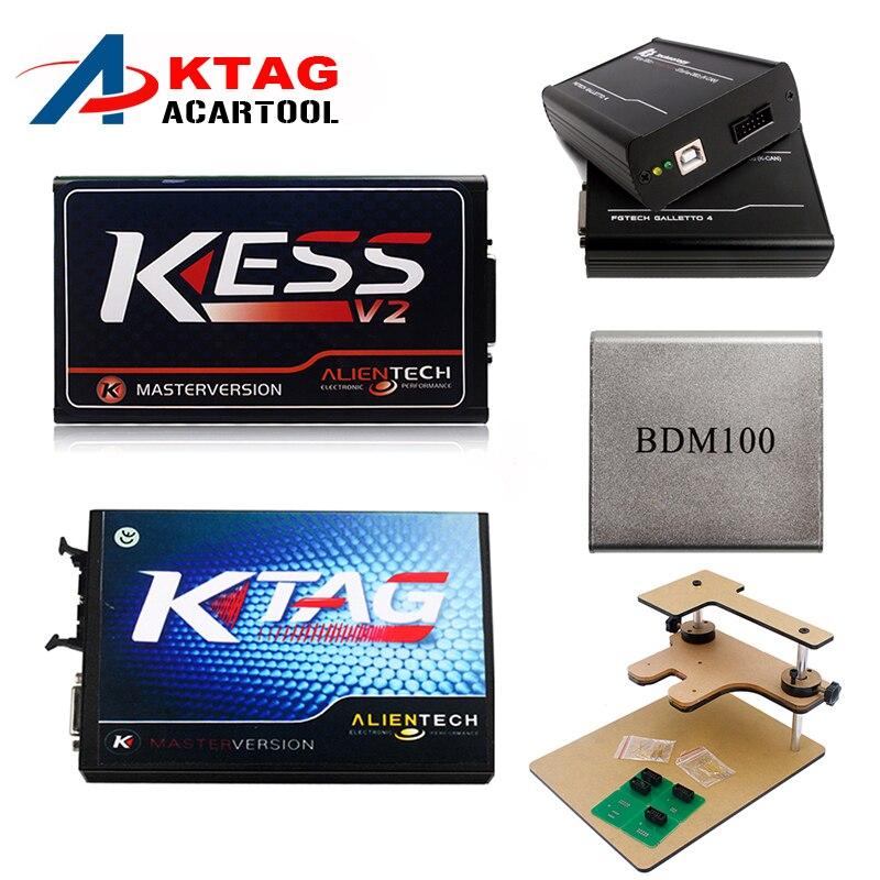 Prix pour Date Kess V2 V2.3 4.036 OBD2 Gestionnaire + K-TAG 2.13 FW 6.070 K TAG ECU Programmeur + FGTECH Galletto 4 Maître v54 BDM Cadre BDM 100