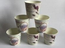 10 Pz/lotto D10 * H10CM Vaso di Fiori In Metallo Ornamento di Nozze Centri Tavola di Nozze Lavanda Decorazione Della Casa