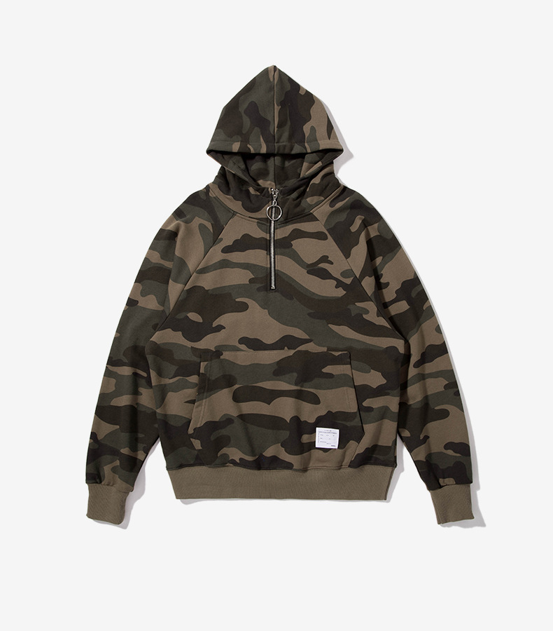 TRIASIADEE Men's Hip Hop Camouflage Hoodies And Sweatshirt Homens Moletom Masculino Skateboard Sweatshirt