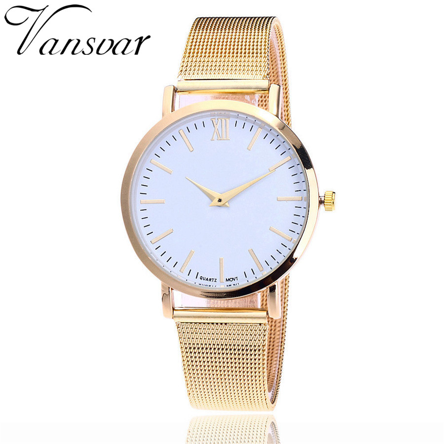 Vansvar Brand Fashion Rose Gold Mesh Band Armbandsur Luxury Women - Damklockor - Foto 2