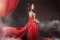 New sexy dance costume clothing elegant portrait photography red costume Hanfu Fairy Dress