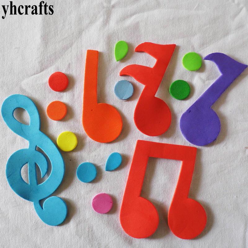 Foam Stickers Babykamer.25 Stks Partij Music Note Foam Stickers Babykamer Decoratie Vroeg