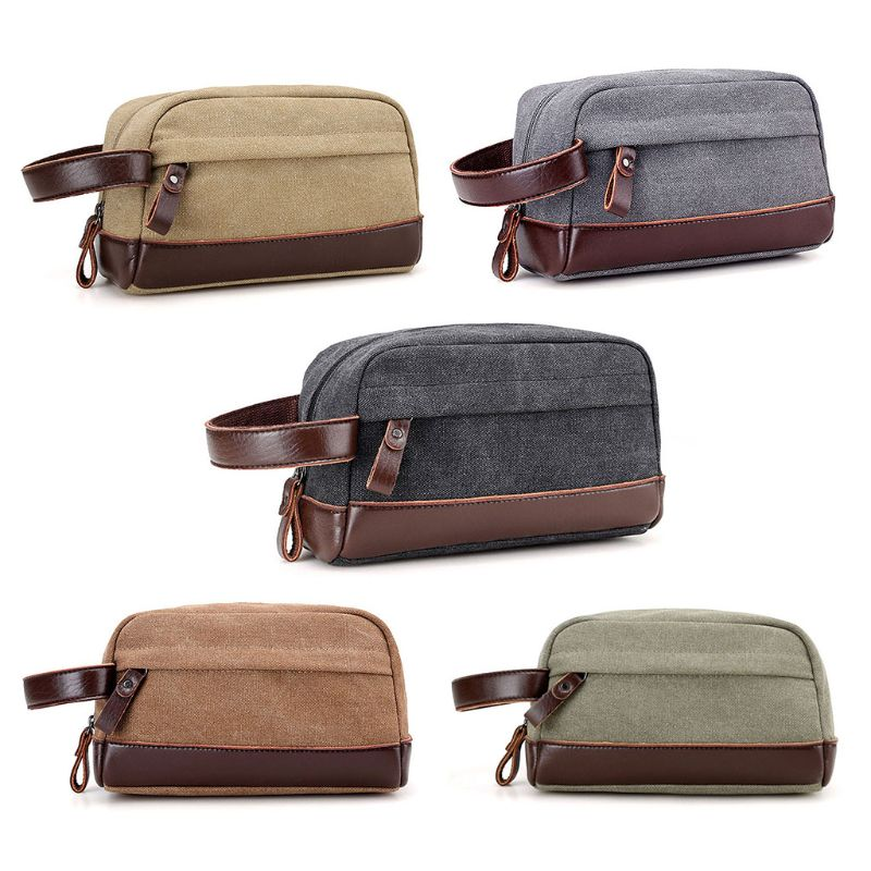 de2ecb66f5e6 New Men Travel Canvas Toiletry Bag Wash Shower Makeup Bag Organizer  Portable Case Pouch Fashion Zipper Cosmetic