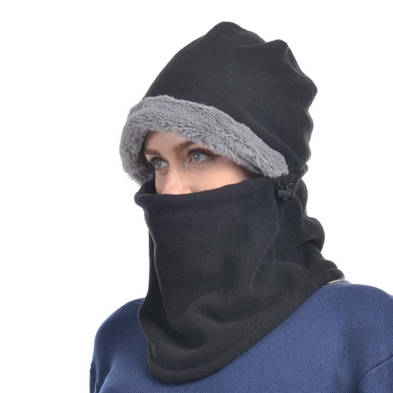 15950a8ae US $13.49 30% OFF Hiking Caps Winter Head Cap Riding Mask CS Fleece Hats  Outdoor Sports Windproof Warm Cap Hiking Cycling Skiing Fishing Headwear-in  ...