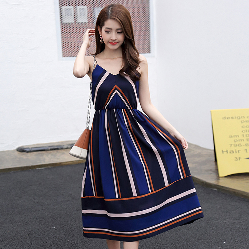 HTB1zFS7XJzvK1RkSnfoq6zMwVXaY Bigsweety New Fashion Women Sexy Boho Striped Dress Summer Maxi Long Dress Sleeveless Beach Strap Sundress Vestidos For Female