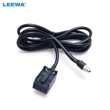 LEEWA Car Radio CD Player Auxiliary Aux Audio Cable For Ford Focus 2 MK2 Ford Mondeo Aadpter Wire #CA1406