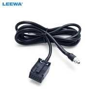 LEEWA Radio de coche reproductor de CD auxiliar Aux Cable de Audio para Ford Focus 2 MK2 Ford Mondeo adaptador de Cable # CA1406