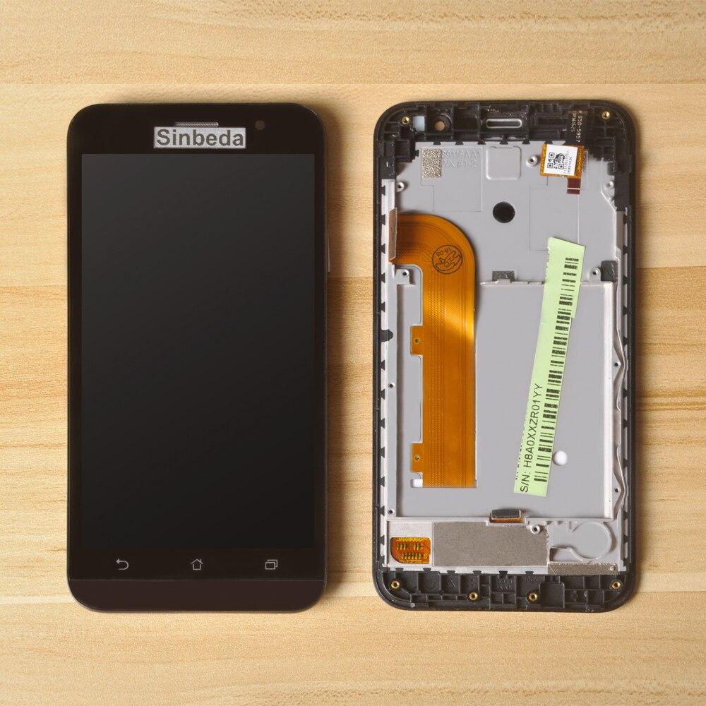 Sinbeda LCD Pour ASUS Zenfone Aller ZB500KL X00AD LCD Affichage à L'écran Tactile Digitizer Assemblée + Cadre Pour ZB500KL 5.0 LCD Noir