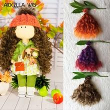 1pcs 15*100cm High Temperature Fiber Fashion Imitation Wool Roll Doll Hair Wefts for DIY 1/3 1/4 1/6 BJD SD Doll Wigs 1pc 15 100cm high temperature wave hair row for 1 3 1 4 1 6 bjd sd doll curly wigs