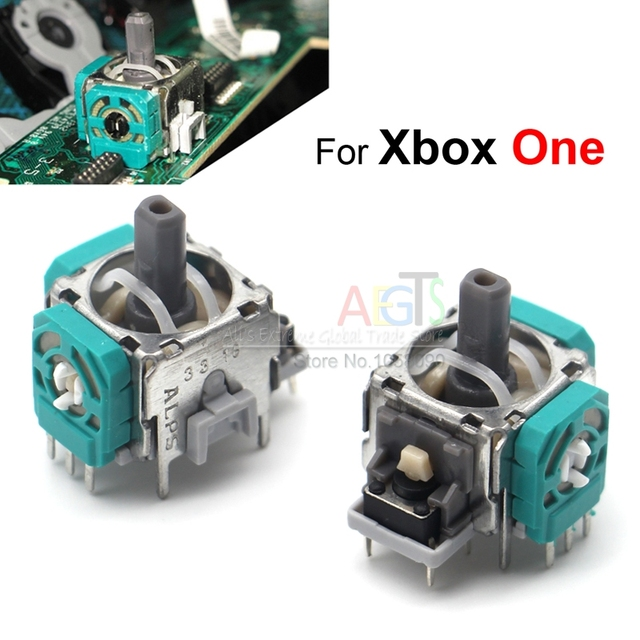 2 Pcs ALPS 3D Joystick for Xbox One Caps Thumbstick Sensor Replacement Analog Module Axis for XBox One Controller Case
