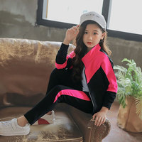 Baby Girls Spring Autumn Clothes Fashion Baby Girl Set Casual Sports Suit For Girl 3 Color Tops + Pants Children'S Clothing