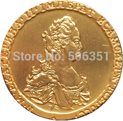 24 - K gold plated Russian Coins 1796 copy  27.5mm