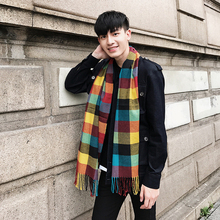 Mens Brand Cashmere Scarfs Spring Winter Designer Plaid Warm cashmere scarves for Men and women Shawls Pashmina Neckerchief