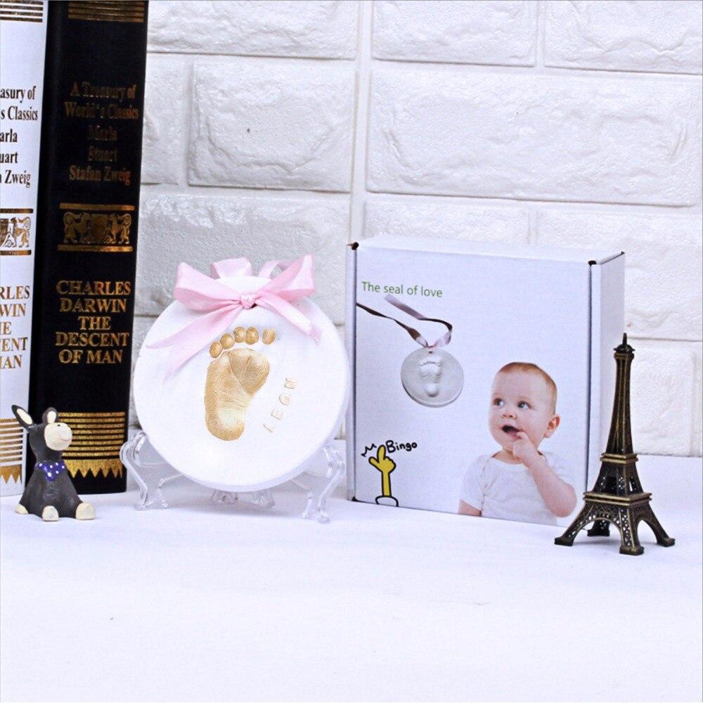 Baby Hand Foot Print Mold For Baby Powder Plaster Clay Handprint Footprint Imprint Kit Casting DIY Keepsake Baby Growth Memorial