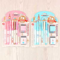Business Erasable Fountain Pen Refills with Ink Sac for Kids Students Gift Korean Stationery Office School Supplies