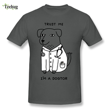 New Arrival Men Doctor Dog T-Shirts Funny Custom Plus Size T Shirts S-5XL Tees