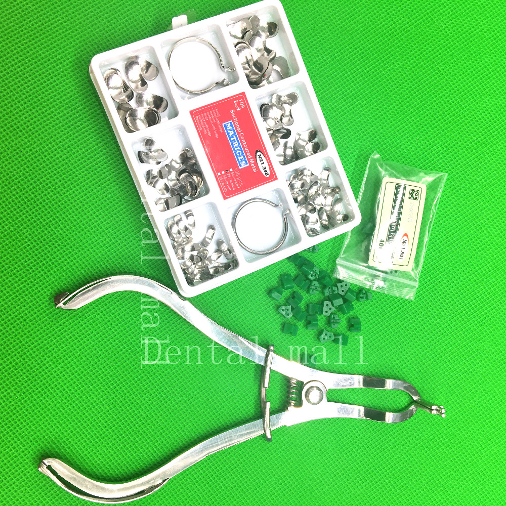 Dental Forceps Or 40Pcs Add-On Wedge Or 100Pcs/Set Dental Sectional Contoured Matrices Matrix Ring Delta Dental Materials