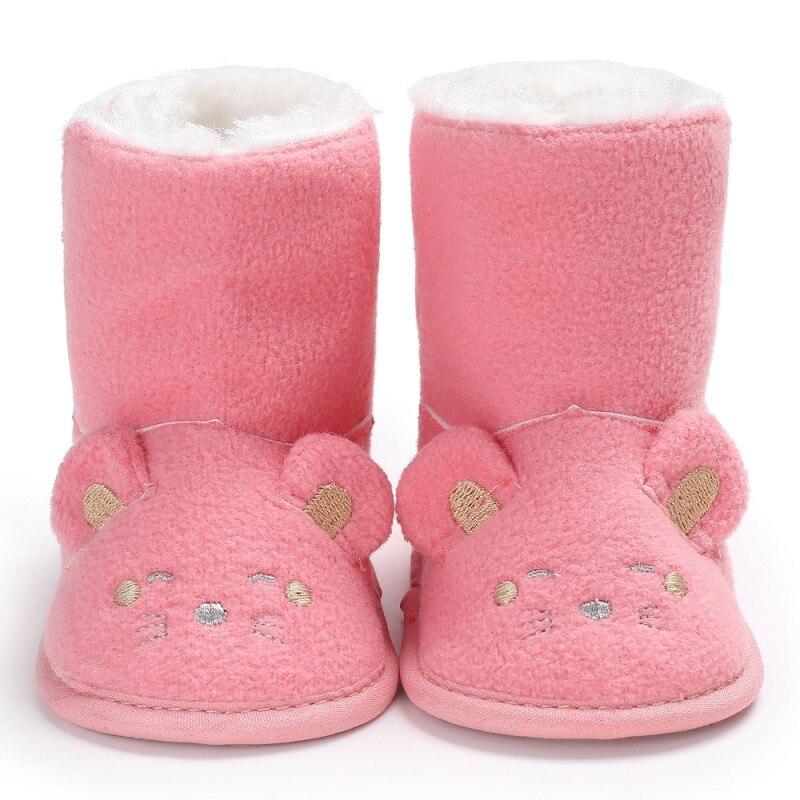 Зимние Детские Сапоги и ботинки для девочек Младенческая малышей новорожденных милый мультфильм Мышь Обувь для девочек Обувь для мальчико...