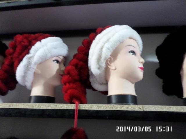 Europa e nos Estados Unidos rabbitr avançado tricô chapéu verdadeira pele de coelho mulheres de pele chapéu tampão do inverno quente