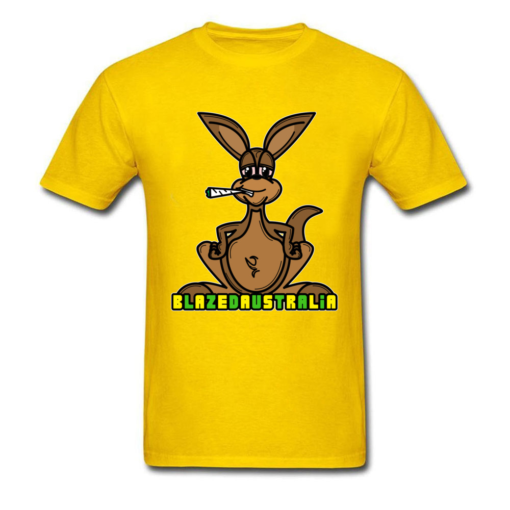 Blaze The Roo Funky Men T-Shirt Round Neck Short Sleeve 100% Cotton Tops Tees Personalized Clothing Shirt Top Quality