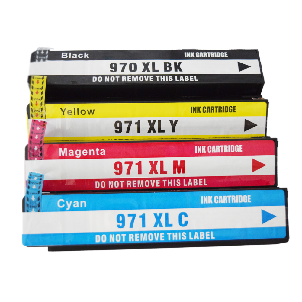 4x Ink Cartridge Compatible For HP 970XL 971 XL OfficeJet X451dn X451dw X476dn X476dw X551dw X576dw X451 X476 X551 Printer hwdid 56xl 57xl ink cartridge compatible for hp 56 57 c6656a c6657a deskjet 450ci 5550 5552 7150 7350 7000 2100 220 printer