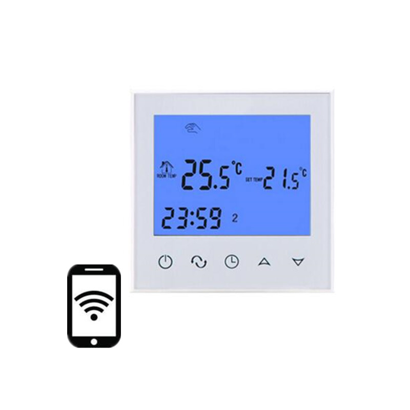 White Digital Floor Heating Thermostat Programmable Underfloor Warm Temperature Controller Remote Control+NTC Sensor AC200-240V elitech digital temperature thermostat 2 relay output control
