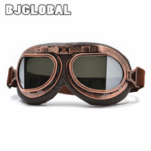 BJGLOBAL 2018 Motorcycle Goggles Vintage Pilot Motorbike Goggles Leather Jet Helmet Eyewear Ski Goggle ATV Off-Road Sunglasses