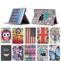 Красочные Печати 7.9 ''Мини Tablet Flip Leather Case For iPad Mini 2 3 Магнит Кожа Case Функция Автоматического Сна + протекторы