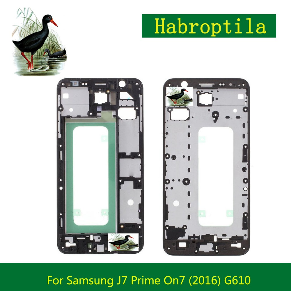 Replacement For Samsung Galaxy J7 Prime On7 (2016) G610 Front Frame Front Housing LCD Screen Plate Bezel Repair Parts