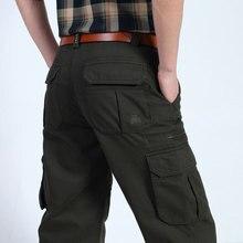 30 ~ 44 2017 Neue Frühling Mens Plus Größe Fleece Hosen Baumwolle Casual Hosen Mann Gerade Formale Fracht Armee Pantalones Warm Lose