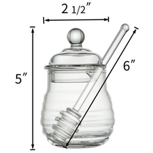 2019 Plastic Honey Pot Jars Transparent Food Jar With Stir Bar Seasoning Juice Bottle