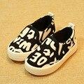 Дети Обувь Мальчиков и Девочек Обувь 2016 Новый Бренд Дышащей дети Холст Обувь Мода Поскользнуться На Случайных Детская Обувь Дети мокасины