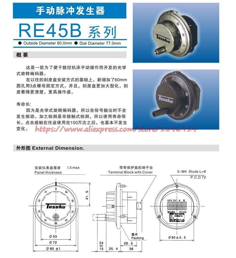 Original RE45BA2R1 manual pulse generator panel type handwheel NEW system dedicated