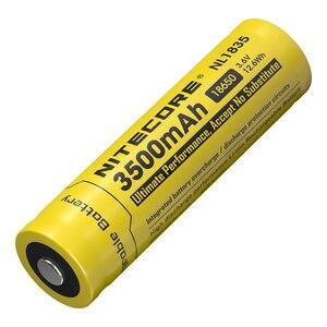 Image 2 - Nitecore bateria li on recarregável, 18650 3500mah nl1835 3.6v 9.6wh, botão de íon de lítio protegido, bateria superior