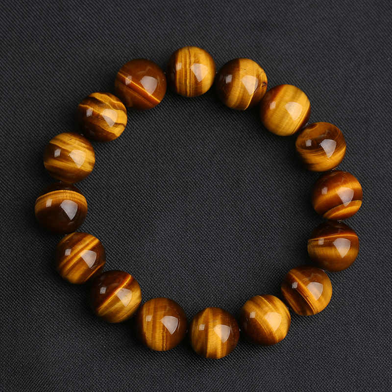 3 Size 8/10/12 mm Big Natural Stone Beads Tiger Eye Bracelet Charms Handmade Buddha Braclet For Men Yoga Meditation Jewelry