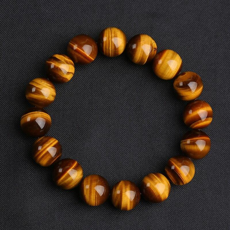 3 tamanho 8/10/12mm grandes grânulos de pedra natural tigre olho pulseira encantos artesanal buda braclet para yoga meditação jóias