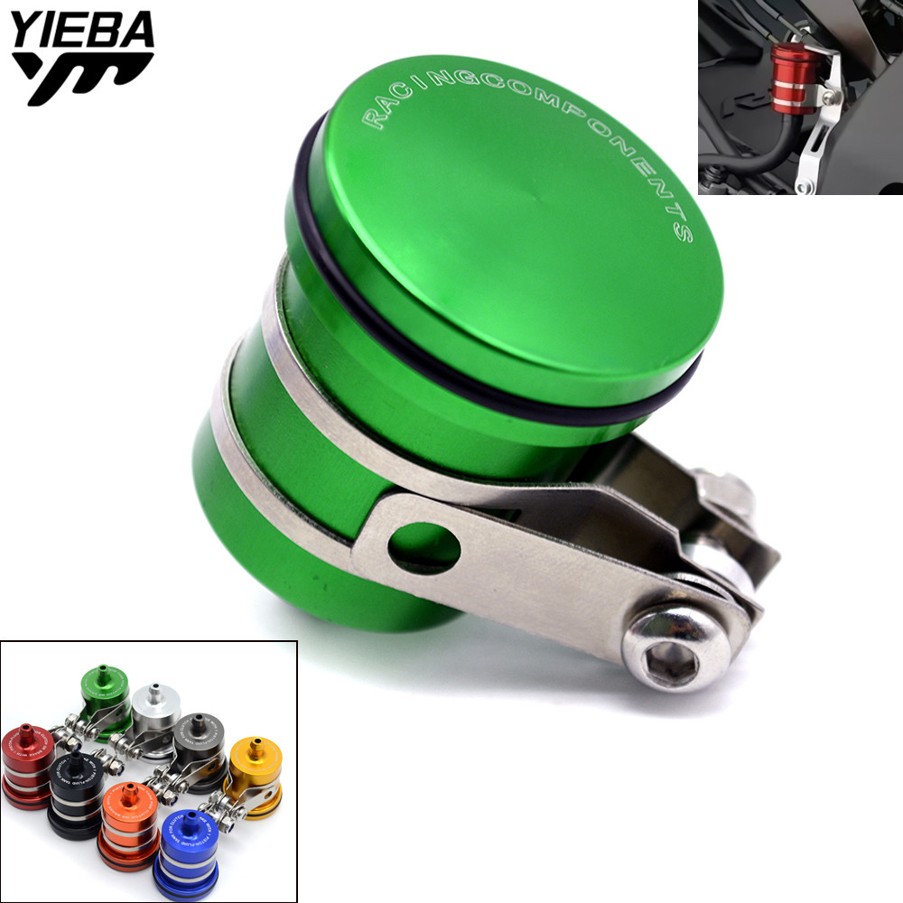 CNC Motorcycle Brake Fluid Reservoir Clutch Tank Oil Fluid Cup for kawasaki ER6F ER6N ER 6N 6F VERSYS 1000 ZZR600 VN1600 GSXR600 universal motorcycle brake fluid reservoir clutch tank oil fluid cup for mt 09 grips yamaha fz1 kawasaki z1000 honda steed bone
