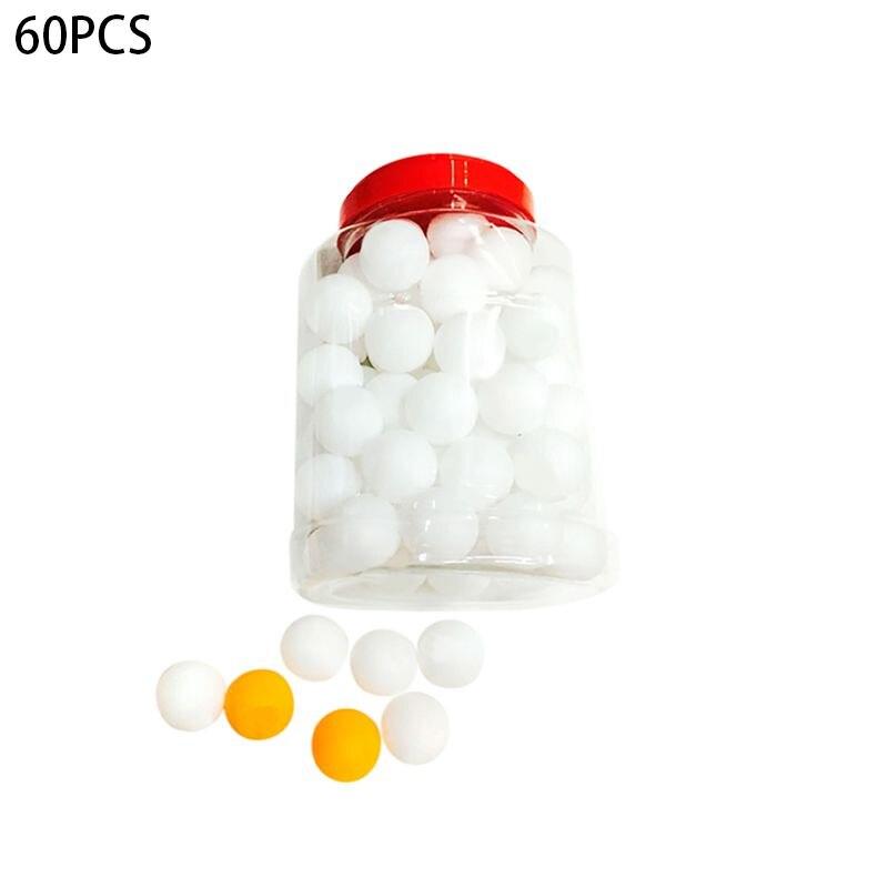 60 шт./компл. мячи для настольного тенниса 40 мм ПВХ профессиональные тренировочные мячи для пинг-понга ракетка спортивные аксессуары - Цвет: Белый