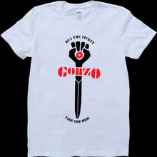 Gonzo Hunter S. Thompson White, Custom Made T-Shirt Printed T Shirt Men Cotton New Style